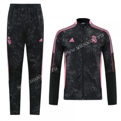 2021-2022 Real Madrid Black & Gray  Soccer Jacket Uniform-LH
