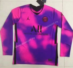 2020-2021 Paris SG  3rd Away Dark Purple LS Thailand Soccer Jersey AAA-422