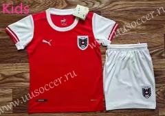 2021-2022 Austria Home Red Kids/Youth Soccer Uniform-709