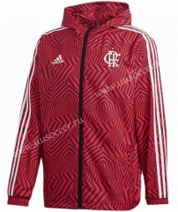 2021-22 Flamengo Red Wind Coat With Hat-GDP