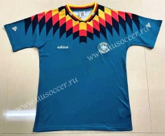 1994 Retro Version Germany Away Green Thailand Soccer Jersey-908