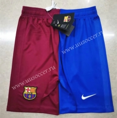 2021-2022 Barcelona Home Red & Blue Thailand Soccer Shorts