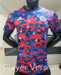 Player Jointed Version 2021-2022 Bayern München Blue & Red Thailand Soccer Jersey AAA