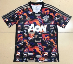 2021-2022 Manchester United Red & Black Thailand Soccer Training Jersey-613