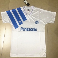 91-92 Retro Version Olympique de Marseille Home White Thailand Soccer Jersey AAA-HR