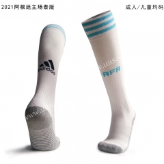 2020-2021 Argentina Home White Kids/Youth Thailand Soccer Socks