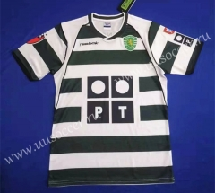 01-03 Retro Version Sporting Clube de Portugal Home Green& White Thailand Soccer Jersey AAA-HR