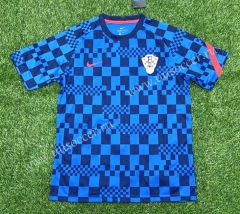 2021-2022 Croatia Blue Thailand Soccer Training Jersey-407