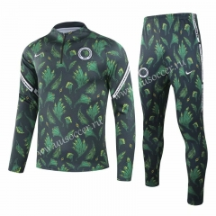 2020-2021 Nigeria Dark Green Kids/Youth Soccer Tracksuit-GDP