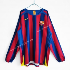 05-06 Retro Version Barcelona Red & Blue Thailand LS Soccer Jersey AAA-C1046