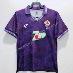 92-93 Retro Version Fiorentina Home Purple Thailand Soccer Jersey AAA-811
