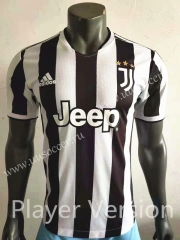 Player Version 2021-2022 Juventus Home Black &White Thailand Soccer Jersey AAA