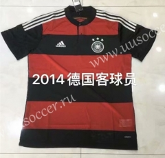 2014 Retro Version Germany Away Red & Black Thailand Soccer Jersey-826