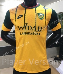Player Version 2021-22 Kedah FA Home Yellow Thailand Soccer Jersey AAA