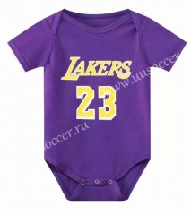 2021-22 Los Angeles LakersPurple #23 Baby NBA Uniform-CS
