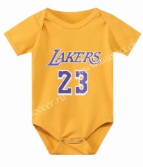 2021-22 Los Angeles Lakers Yellow #23 Baby NBA Uniform-CS