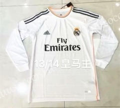 13-14 Retro Version Real Madrid White Thailand LS Soccer Jeesey AAA-826