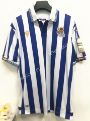 Special Version 2021-22Real Sociedad Home Blue& White Thailand Soccer Jersey AAA-7T