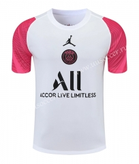 2021-22 Paris SG Gray & White With Pink Sleeve Thailand Soccer Training Jersey-418