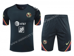 2021-22 Club América Royal Blue Thailand Soccer Training Uniform-418