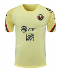 2021-22 Club América Yellow Thailand Soccer Training Jersey-418