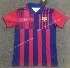 2021-22 Barcelona Red & Blue Thailand Polo Shirts-803