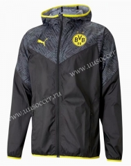 2021-2022 Borussia Dortmund Black & Gray Trench Coats With Hat-WD