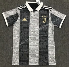 2021-22  Juventus Black & White Thailand Polo Shirts-803