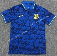2021-22 Barcelona Blue Thailand Polo Shirts-803