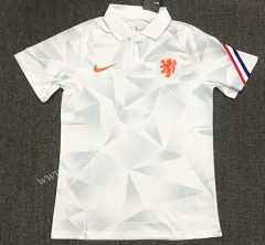 2020-2021 Netherlands White Thailand Polo Shirts-803