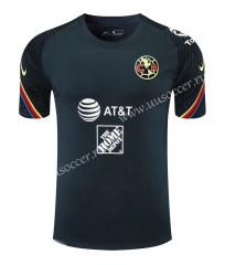 2021-22 Club América Royal Blue Thailand Soccer Training Jersey-418