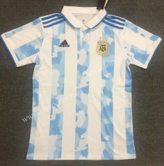 2021-22 Argentina Blue & White Thailand Polo Shirts -803