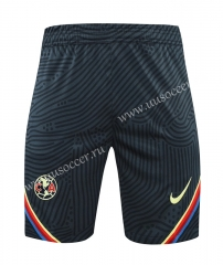 2021-22 Club América Royal Blue Thailand Soccer Training Shorts-418