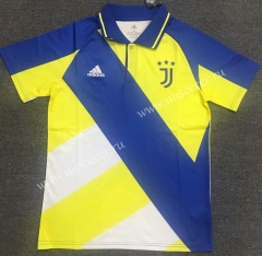 2021-22 Juventus Yellow Blue Thailand Polo Shirts-803
