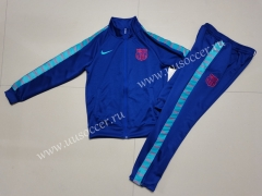 2021-22 Barcelona Blue Kids/Youth Soccer Jacket Uniform-GDP