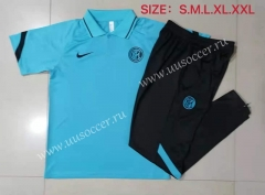 2021-22 Inter Milan Light Blue Thailand Polo Uniform-815