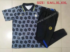 2021-22 Inter Milan Gray Printing Thailand Polo Uniform-815