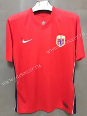 2021-22 Norway Home Red Thailand Soccer Jersey-XY