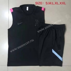 2021-22 Korea Republic Black Thailand Soccer Tracksuit Uniform Vest-815