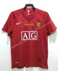 08 Retro Version Manchester United Home Red Thailand Soccer Jersey AAA-811