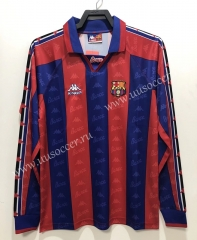 96-97 Retro Version Barcelona Home Red & Blue Thailand LS Soccer Jersey AAA-811