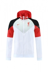2021-22 Liverpool White Wind Coat With Hat-LH