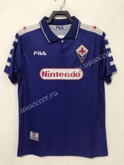 98 Retro Version Fiorentina Home Purple Thailand Soccer Jersey AAA-811