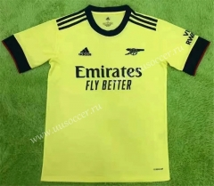 2021-2022 Arsenal Away Yellow Thailand Soccer Jersey AAA
