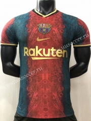 Player Version 2021-22 Barcelona Blue & Golden Thailand Soccer Training Jersey