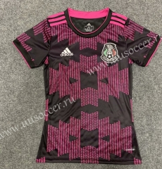 2021-22 Mexico Home Pink & Black Female Thailand Soccer Jersey