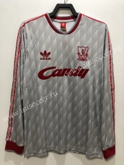 89 Retro Version Liverpool Away White Thailand LS Soccer Jersey AAA-811