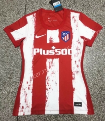 2021-22 Atlético Madrid Home Red Thailand Female Soccer Jersey AAA