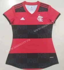 2021-22 CR Flamengo Home Red & Black Thailand Women Soccer Jersey AAA