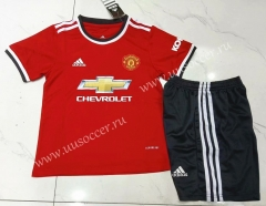 2021-22 Manited United Home Red Youth/Kids Soccer Uniform